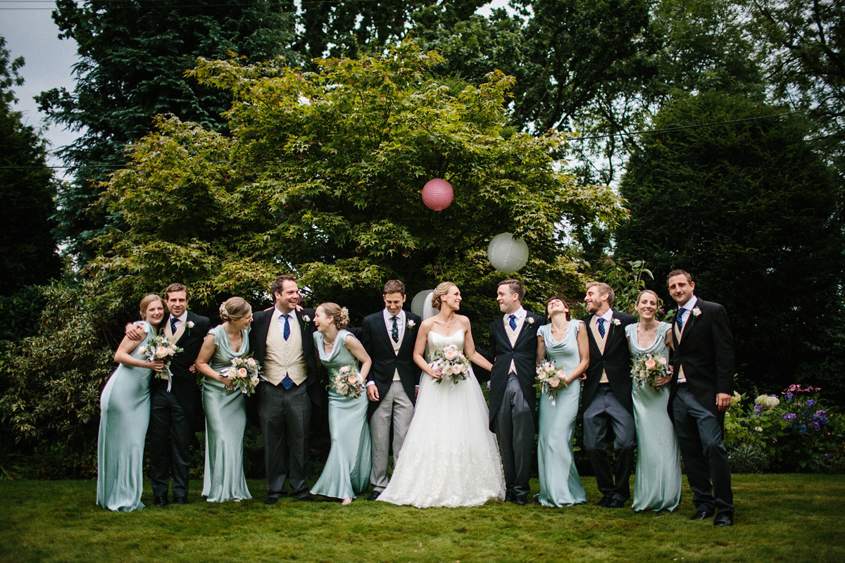 Suzanne Neville Glamour and Maids in Pale Green Ghost Gowns (Weddings )