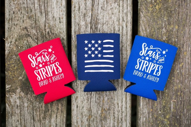 Patriotic Wedding Koozies