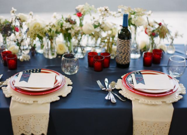 Fourth of July Wedding Tablescape