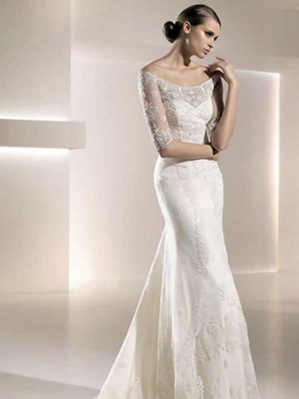 Sheath wedding dress for short women style cheap wedding for Short sheath wedding dress