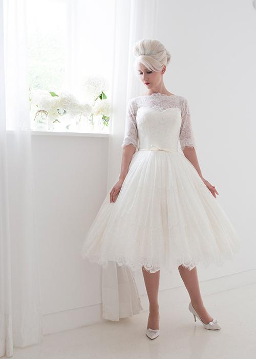 Fashionable Tea Length Wedding Dresses for Short Bride 2016