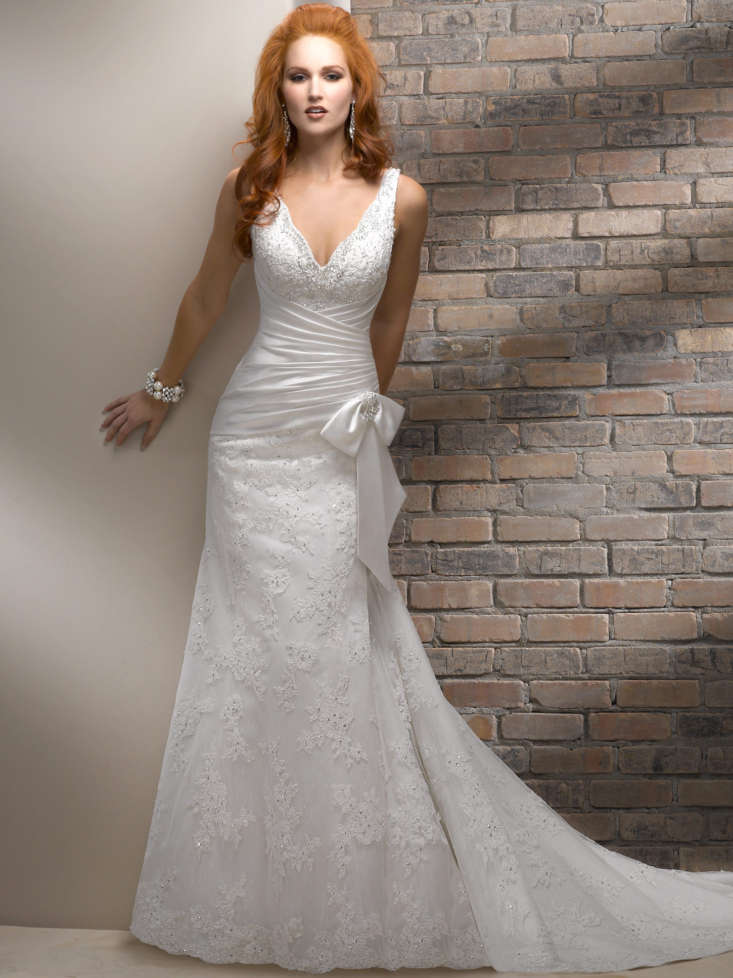 A line wedding dresses for elegant ladies cheap wedding for Around the neck wedding dresses