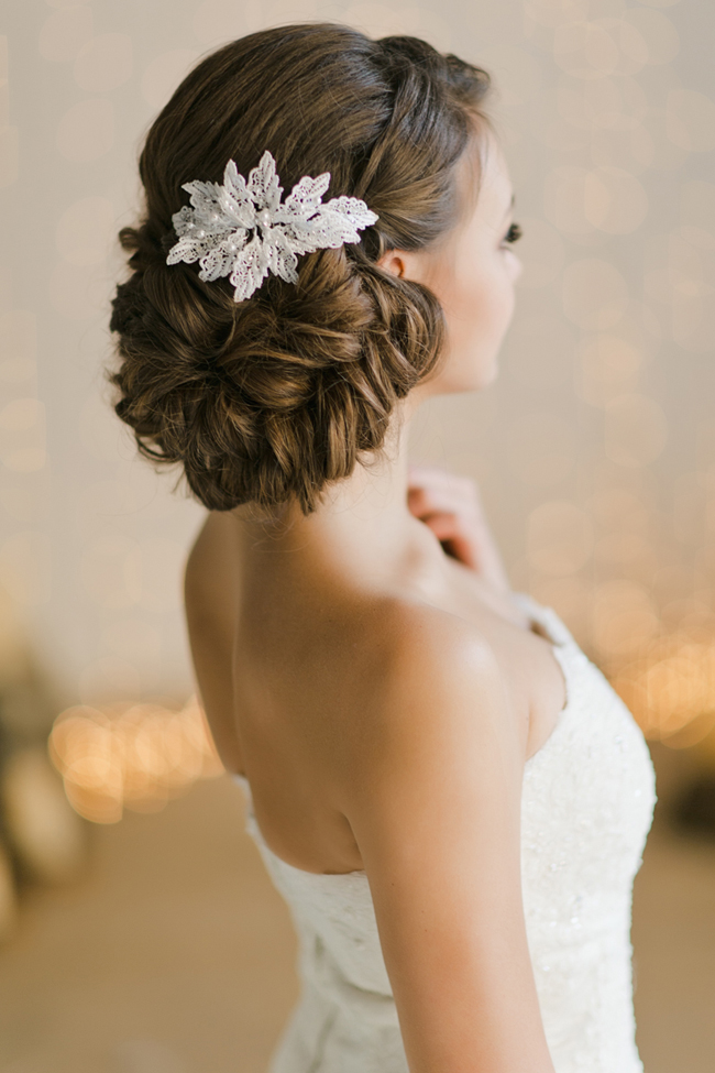 winter bridal up do hairstyle