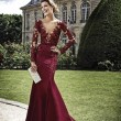 V-Neck Mermaid Prom Dress with Cut-Out Back