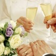 Champagne in the wedding ceremony